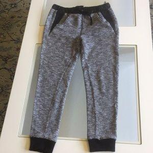 LF Black/Gray sweatpants w/faux leather